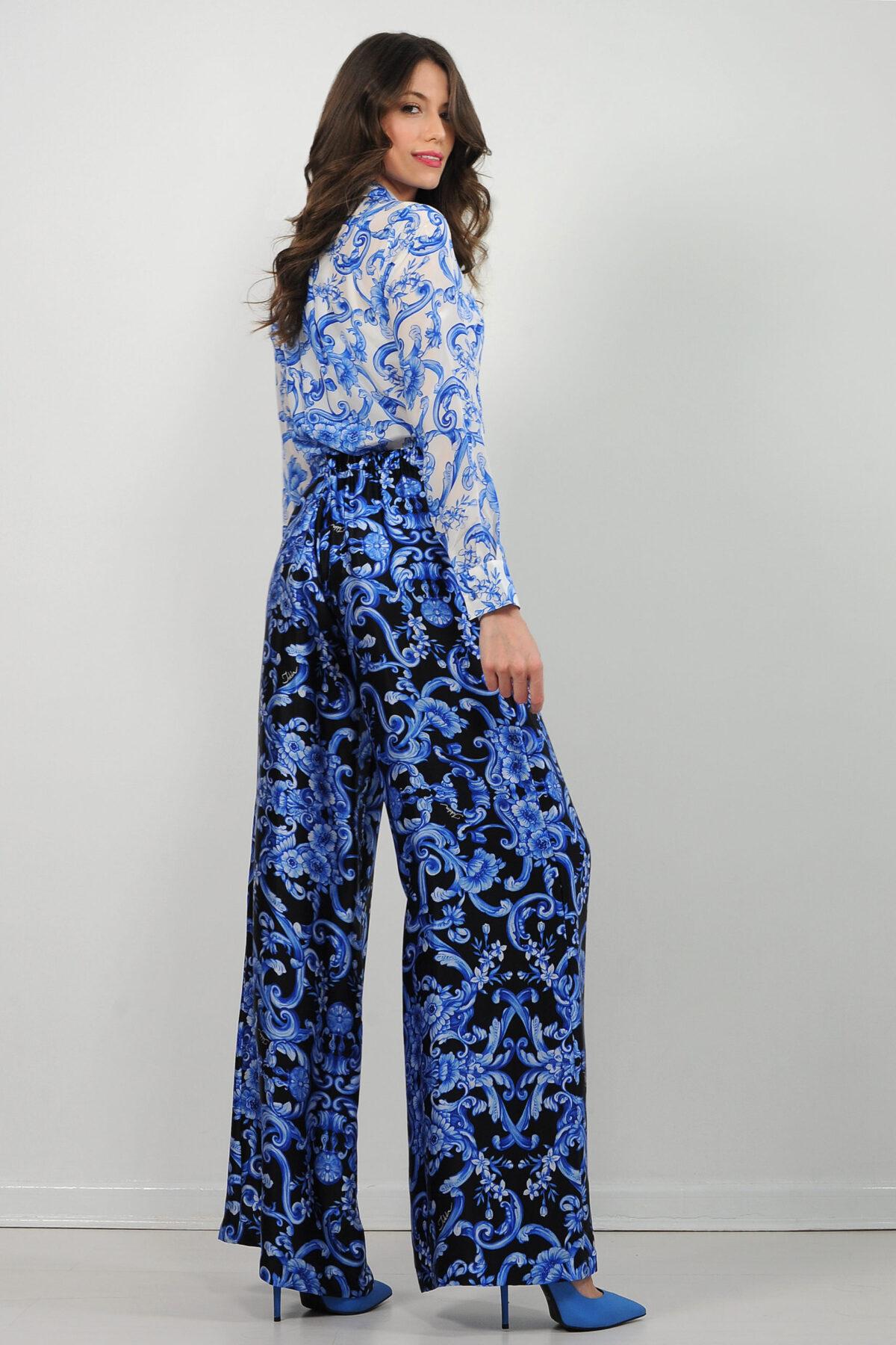 Camicia in crepe de chine di seta - stampa barocco