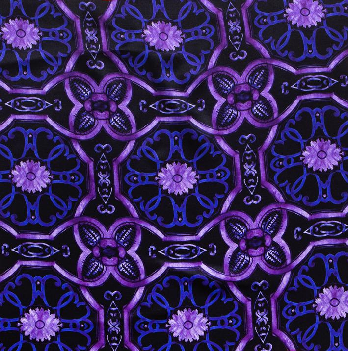 Foulard in raso di seta 70x70 - stampa maiolica