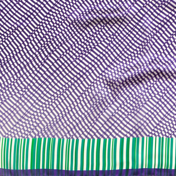 Foulard in raso di seta 90x90 - stampa idda optical