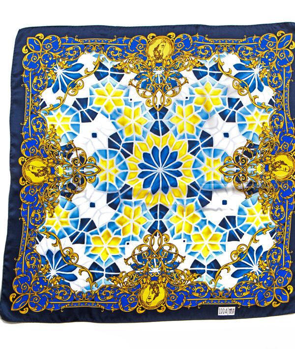Foulard in raso di seta 70x70 - stampa mosaico