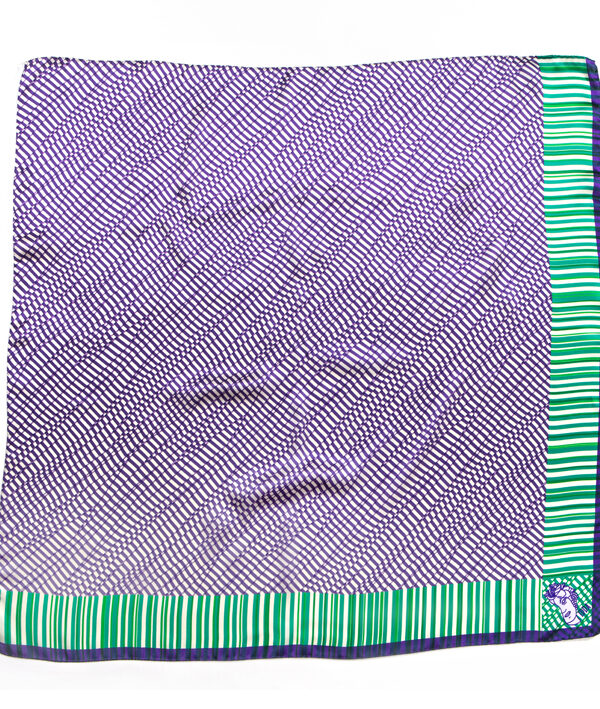 Foulard in raso di seta 90x90 - stampa idda optical